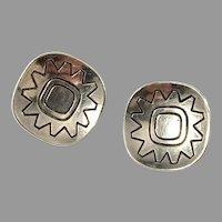 Atelier Borgila, Stockholm 1957 Mid Century Modern Sterling Silver Clip-on Earrings