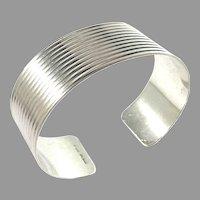 Scandinavia c 1960s Sterling Silver Cuff Bracelet.
