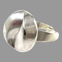 Alton, Sweden 1974. Modernist Sterling Silver Ring.