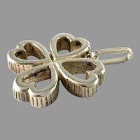 Victor Janson, Sweden 1978. Vintage Solid 830 Silver 4 Hearts Pendant
