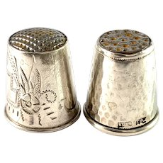 Two 1920s Solid Silver Thimbles. Denmark and Finland