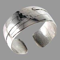 Reijo Sirkeoja, Finland year 1960 Sterling Silver Cuff Bracelet.