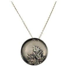 Pekka Piekäinen for Auran Kultaseppä, Finland 1975. Vintage Sterling Silver Pendant Necklace. Signed