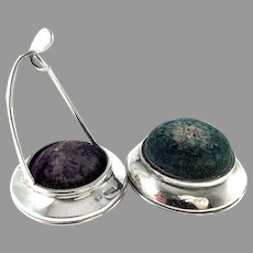 Two Antique Sterling Silver Pin Cushions. London and Birmingham.
