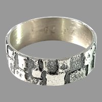 Koruseppä Oy, Finland 1974 Sterling Silver Men's Ring