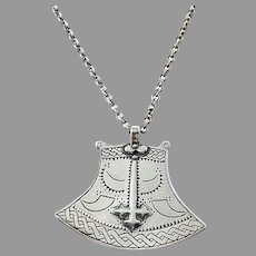 Kalevala Koru, Finland. Vintage Sterling Silver Pendant Necklace.