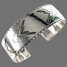 Georg Jensen Mid Century Sterling Silver Cuff Bracelet. Design no 38, by Harald Nielsen