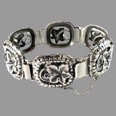 G Dahlgren, Sweden 1953. Mid Century Sterling Silver Bracelet.
