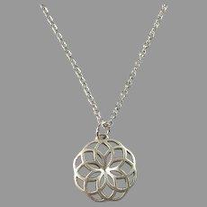 FinnFeelings, Finland Vintage Sterling Silver Pendant Necklace.