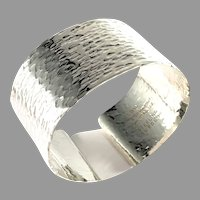 Peter Von Post, Stockholm 1973 Sterling Silver Bold Cuff Bracelet.