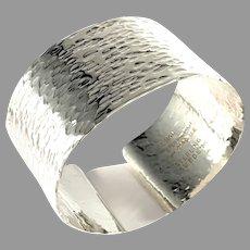 Peter Von Post, Stockholm 1973 Sterling Silver Bold Cuff Bracelet.