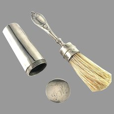 S Lyberg, Sweden year 1840 Solid Silver Solid Silver Shaving Brush