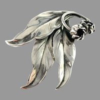 Pinco, Stockholm 1952 Mid Century Sterling Silver Brooch.