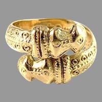 Bengt Hallberg, Sweden. Vintage Viking Copy 18k Gold Ring.