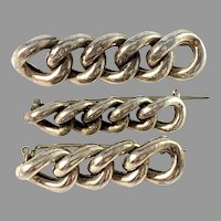 Sweden early 1900s Antique 830 Silver Lace Pins