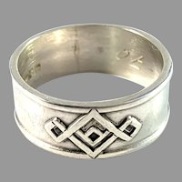 Arne Rautio, Finland 1967. Solid Silver Ring.