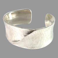 Jan Eve Stengård, Sweden. Vintage Massive Sterling Silver Cuff Bracelet. Signed