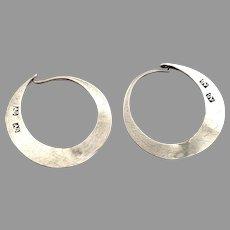 A Bollwij, Sweden Antique early 1800s Solid Silver Earrings.
