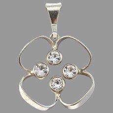 Kultakeskus Oy, Finland. Vintage Sterling Silver Rock Crystal Pendant.