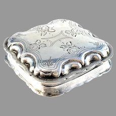 The Netherlands 1861 Antique Solid Silver Loderein Box