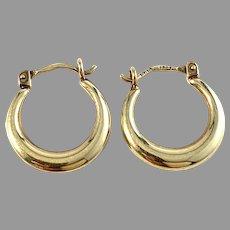 Finland Mid Century 14k Gold Earrings.