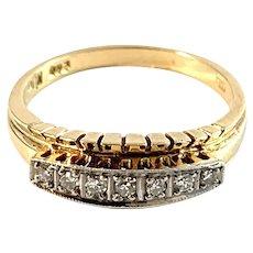 Kjeld Jacobsen, Copenhagen. c 1950s. 14k Gold Diamond Ring.