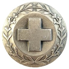 Sporrong, Sweden year 1969. Sterling Silver Nurse Badge Brooch.