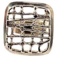 Bengt Hallberg, Sweden 1971. Vintage Modernist Sterling Silver Ring.