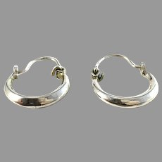 Vintage Mid Century 830 Silver Earrings.