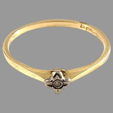 BCK, Finland Vintage 18k Gold Diamond Ring.