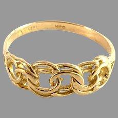Hedberg, Sweden c 1970s. Vintage 18k Gold Bismarck Ring.