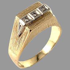 Atelje Stigbert, Sweden 1969. Vintage 18k Gold Diamond Ring.