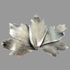 Gertrud Engel for A Michelsen Sweden 1952 Sterling Silver Brooch. Signed. Rare.