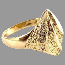 Bengt Hallberg, Sweden. Vintage 18k Gold Diamond Ring.