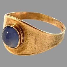 Ceson, Sweden year 1961. Vintage 18k Gold Chalcedony Ring.