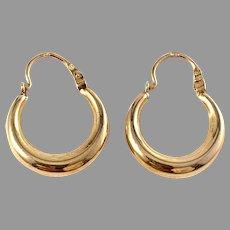 Sweden Vintage Mid Century 18k Gold Earrings.