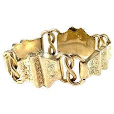 CA Pousette, Sweden 1856. Antique Victorian Gilt Silver Bracelet.