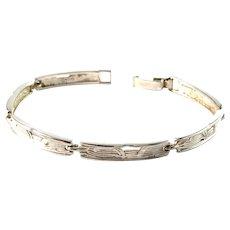 Vintage c 1960s Solid 835 Silver Link Bracelet.