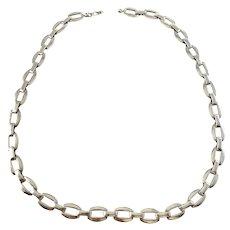 Vintage c 1970s. Sterling Silver Unisex Necklace. 20in. 1.9oz