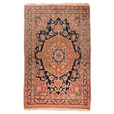 Fine Antique Doroksh Persian Rug, Hand Knotted, Circa 1890, Size 4' x 6'2""