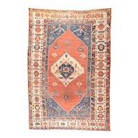 Antique Red Bakshaish Persian Area Rug Wool Circa 1890, SIZE: 11'4'' x 17'2''