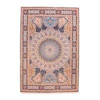 Vintage Beige Persian Tabriz Area Rug Circa 1970, SIZE: 6'7'' x 9'10''