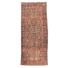 Fine Antique Persian Malayer Circa 1920, SIZE: 5'10'' x 13'10''