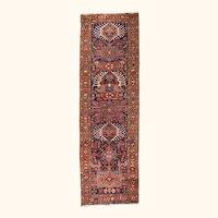 Hand Knotted Persian Heriz Serapi Wool Circa: 1890, SIZE: 3'9'' x 12'0''