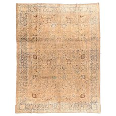 Hand Knotted Persian Tabriz Wool Circa 1890, SIZE: 9'6'' x 12'7''