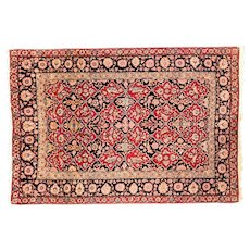 """Fine Antique Persian Isfahan Hand Knotted one of pair, Circa 1890, Size 4'7"""" x 6'11"""""""