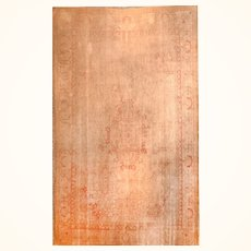 Extremly Fine Antique Turkish Rug Oushak, Hand Knotted, Circa 1920's, Size 11'3'' X 11'11''