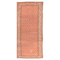 Antique Rust Malayer Persian Area Rug Wool Circa 1890, SIZE: 5'11'' x 13'4''