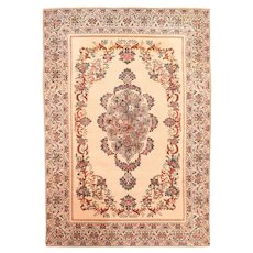 """Extremley Fine Antique Persian Tehran Hand Knotted , Silk Foundatin, Circa 1910, Size 4'5"""" x 6'8"""""""