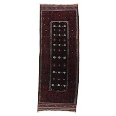 Spectacular Fine Antique Persian Balouch Tribal Rug Circa 1900, SIZE: 4'0'' x 10'9''